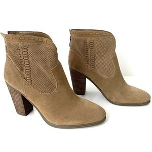 Vince Camuto Brown Suede Fretzia Ankle Boots